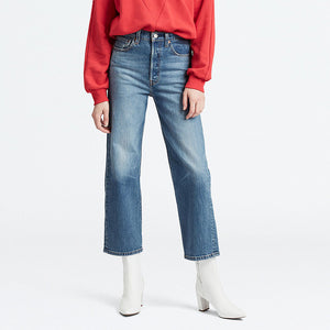 Levi's Ribcage Straight Ankle Jeans - Jive Swing