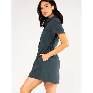 Rusty Heartbreaker Button Up Dress