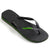 Havaianas Rubber Logo Black/Neon Green Thongs