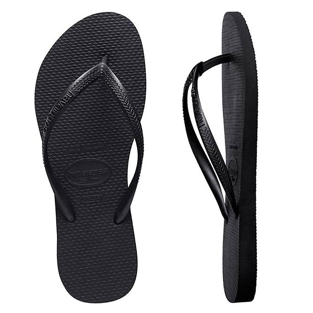 Havaianas Slim Basic Black Thongs