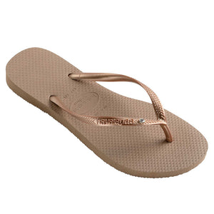 Havaianas Slim Crystal Rose Gold Thongs