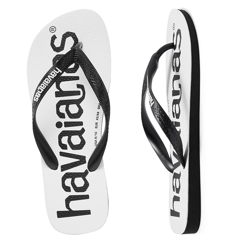 Havaianas Top Logo Mania Black-Black Thongs