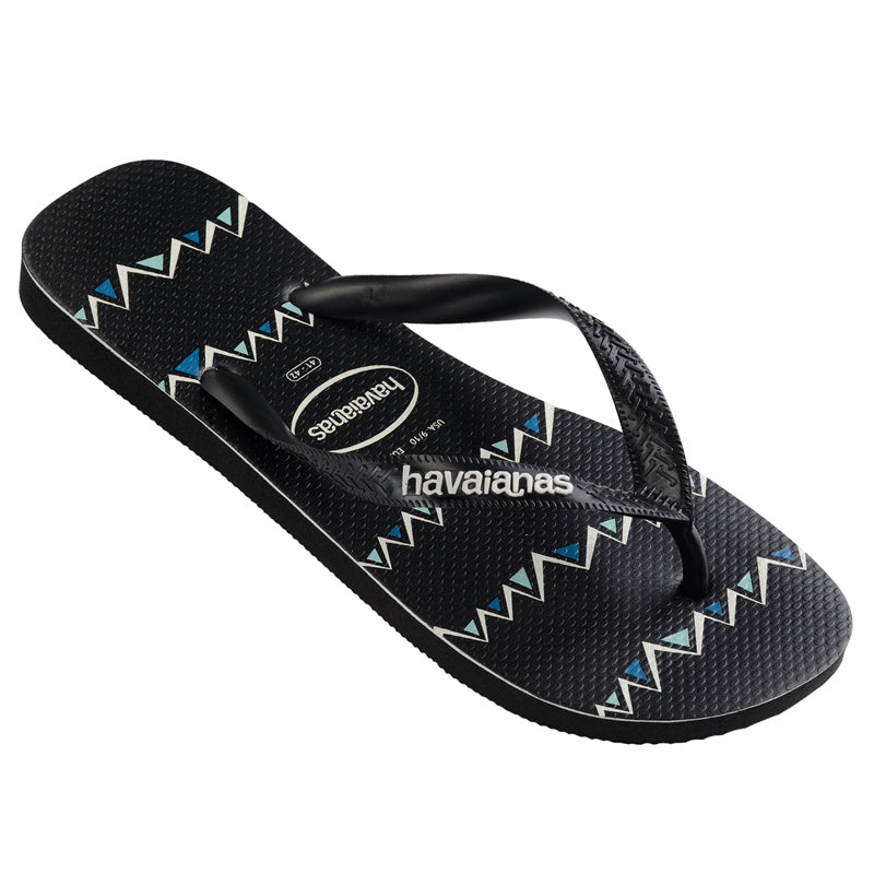 Havaianas Top Stripe Zag Black Thongs