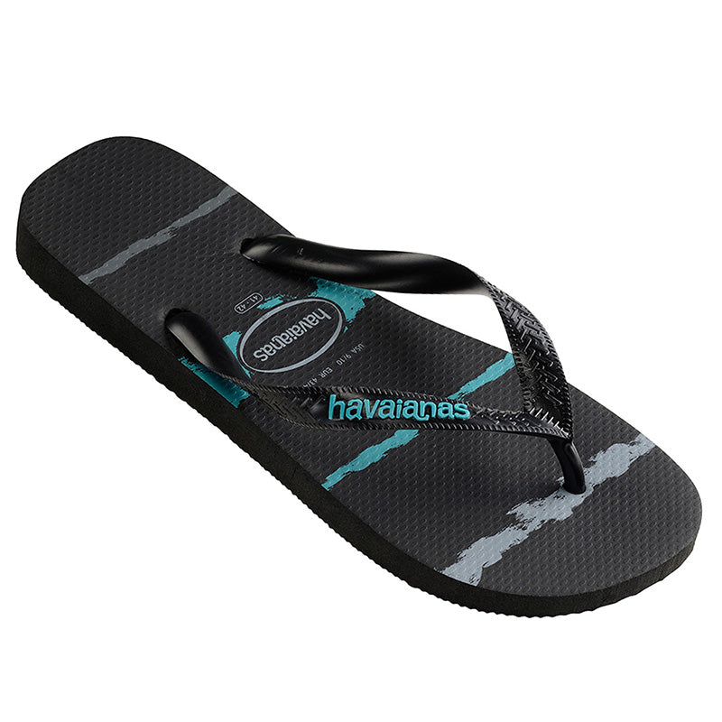 Havaianas Tropical Glitch Black/Blue Thongs
