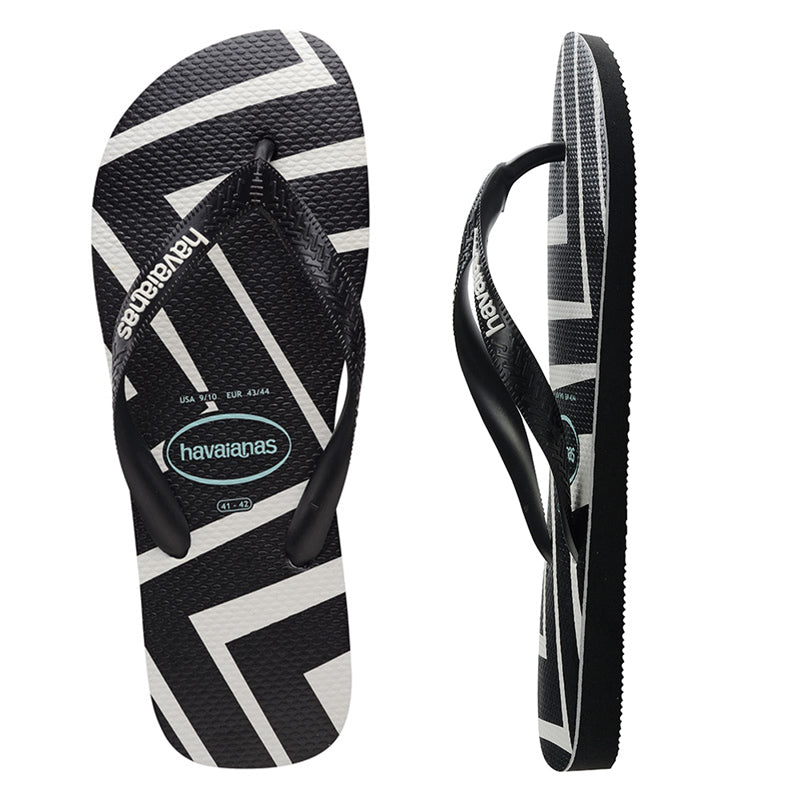 Havaianas Top Zig Zag Black Thongs