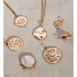 Kirstin Ash Lost Treasure Coin - 18k Rose Gold Vermeil
