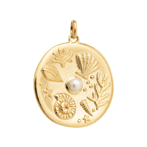 Kirstin Ash By The Sea Coin - 18k Gold Vermeil
