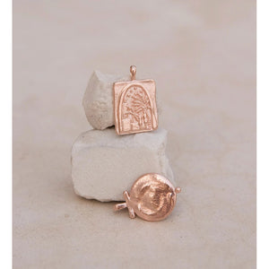 Kirstin Ash Under The Night Sky Coin - 18k Rose Gold Vermeil