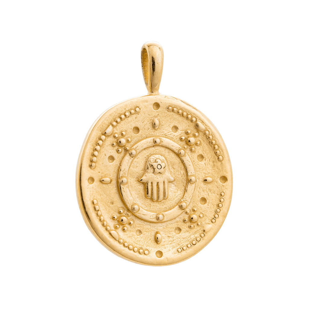 Kirstin Ash Hasma Protection Coin - 18k Gold Vermeil