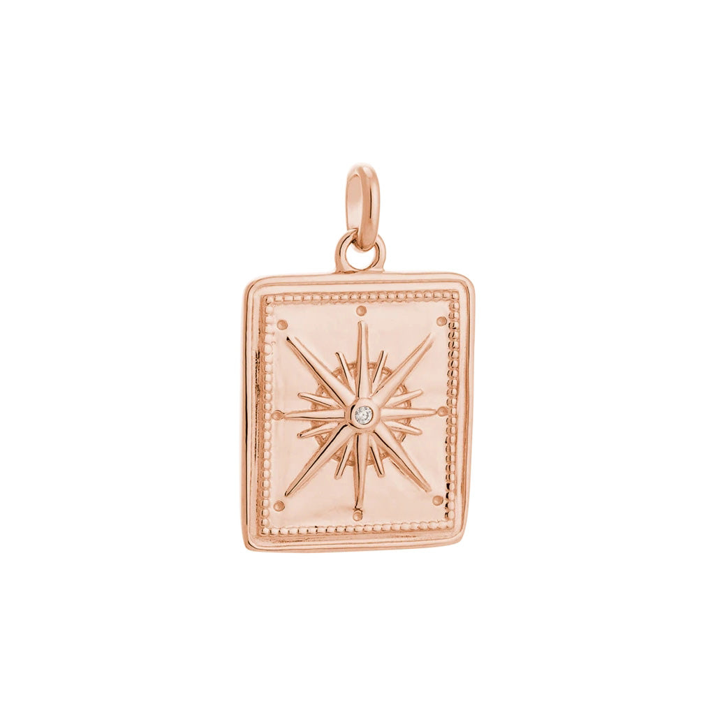 Kirstin Ash True North Coin - 18k Rose Gold Vermeil