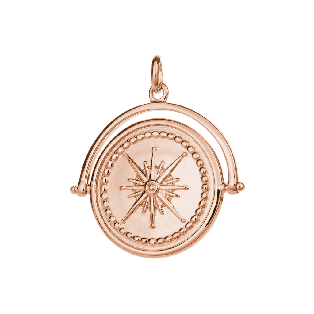 Kirstin Ash True North Spinner - 18k Rose Gold Vermeil