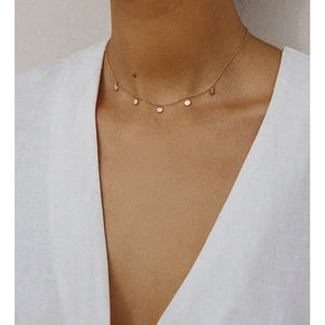 Kirstin Ash Travel Stories Necklace - Rose Gold