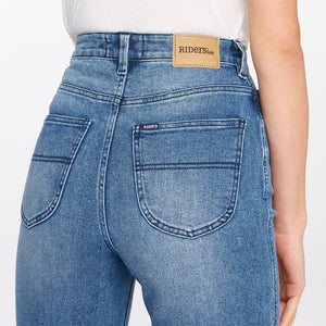 Riders by Lee Hi Mom Curve Jean - Midtown Blue