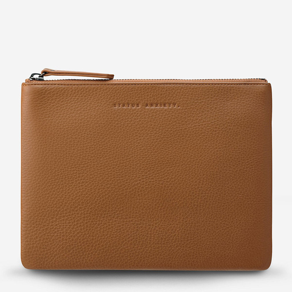 Status Anxiety Fake It Clutch Wallet - Tan