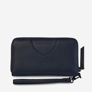 Status Anxiety Moving on Wallet - Navy Blue