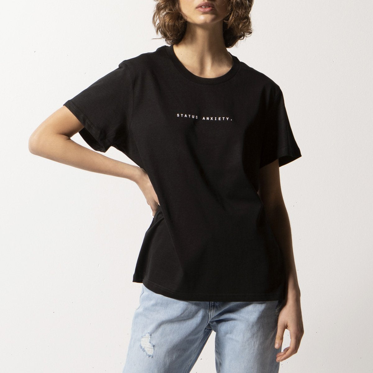 Status Anxiety Think It Over Tee - Black