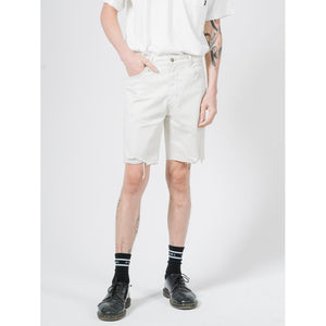 Thrills Destroyed Bones Denim Short - Vintage Bone