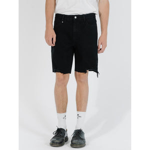 Thrills Destroyed Bones Denim Short - Black Rinse