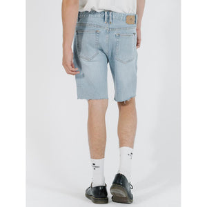 Thrills Destroyed Bones Denim Short - Time Worn Blue