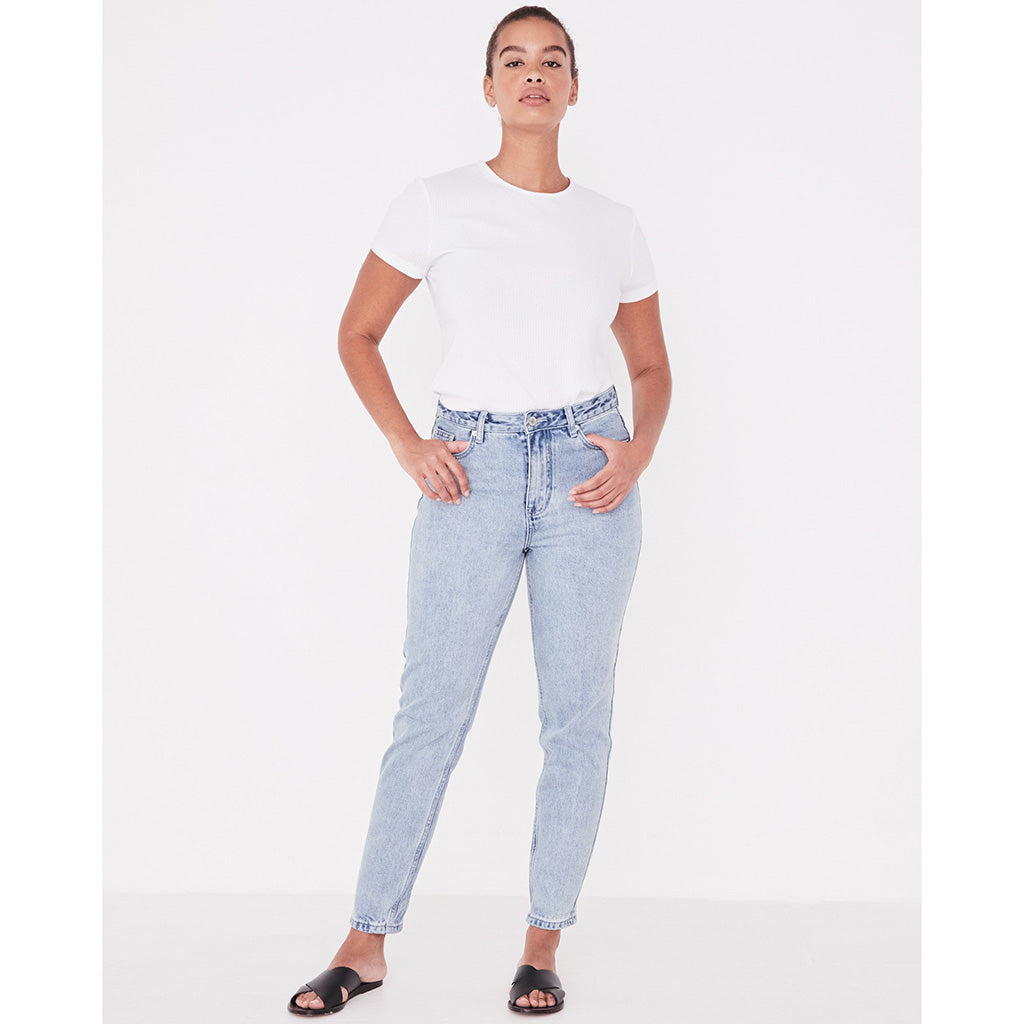 Assembly Label High Waist Rigid Jean