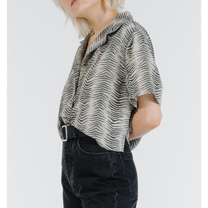 Thrills Zebra Lounge Crop Shirt