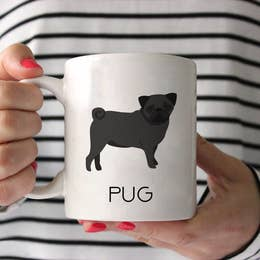 Black Pug Ceramic Mug 15 oz