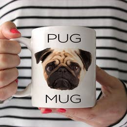 Pug Face Coffee Mug 15 oz