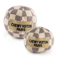 Checker Chewy Vuiton Ball by Haute Diggity Dog