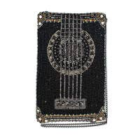 Strum Along Beaded Guitar Crossbody Phone Bag by Mary Frances