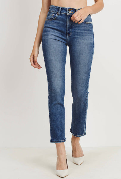 The Double Button Straight Jean