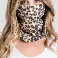 MULTI-PURPOSE LEOPARD PRINT FACE COVER