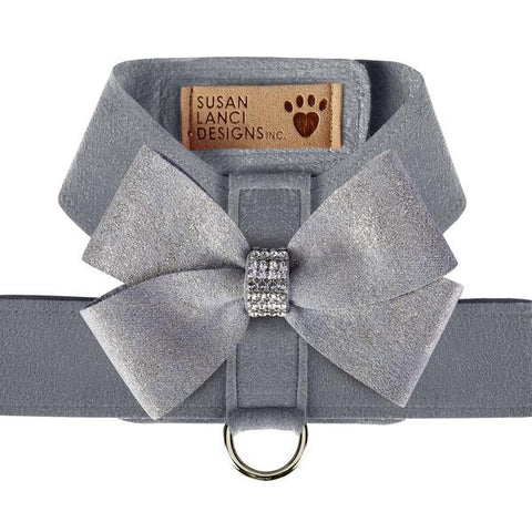 Platinum Glitzerati Nouveau Bow Tinkie Harness by Susan Lanci Designs