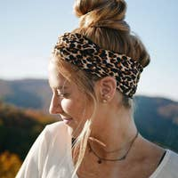 Crunchy Love Co. Wide Headband. Multiple prints to choose from.