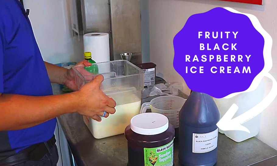 Make a Decadent and Fruity I.Rice Black Raspberry Ice Cream
