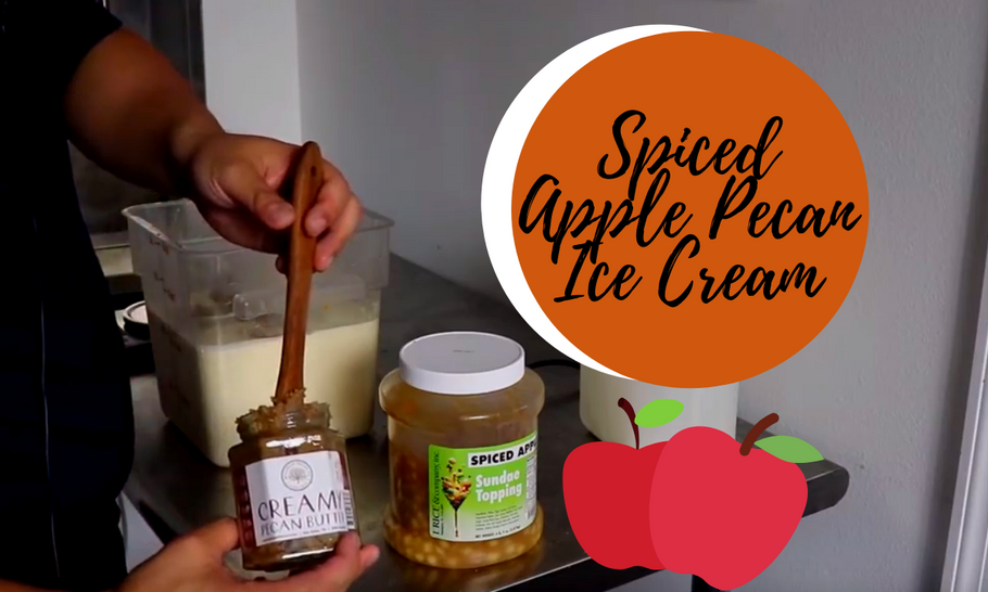 Spiced Apple Pecan Ice Cream