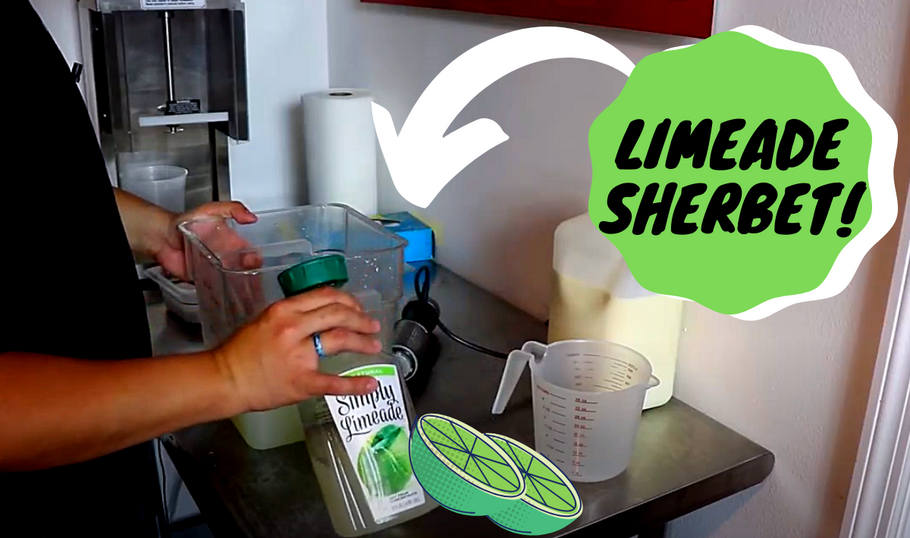 Making A Delicious Lime Sherbet With Electro Freeze!