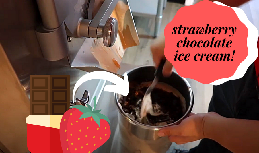 Make A Delicious Strawberry Chocolate Ice Cream