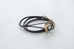 Anchor Bracelet Leather