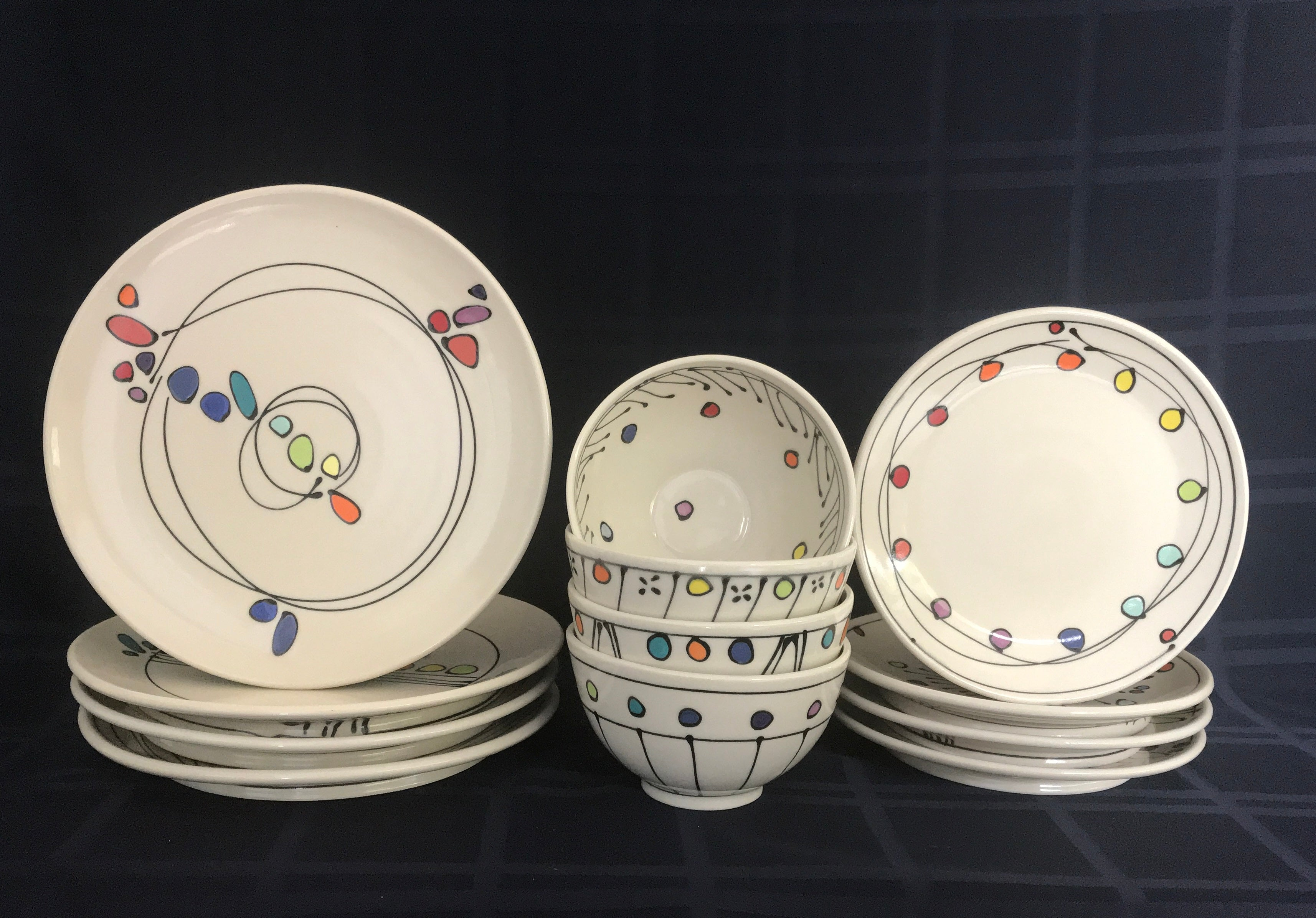 Custom Place Setting of 4 (Tall Bowls)