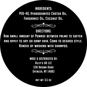POMP-AID WATER SOLUBLE HAIR POMADE 3.5 OZ BLUE LABEL
