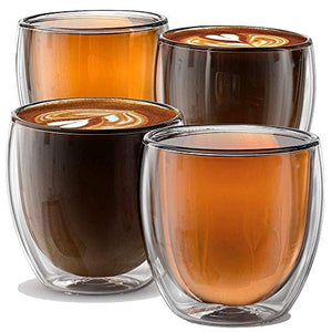 8.5oz Cups Milano Collection - Set of 4 Double wall cups