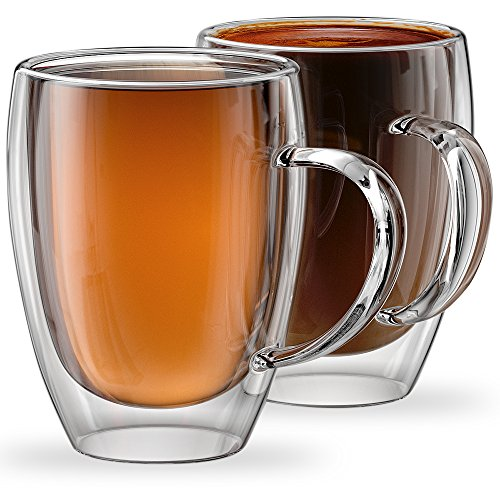 12oz Mugs Torino Collection - Set of 2 Double Walled Mugs