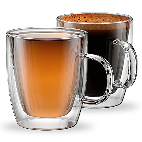12oz Mugs Modena Collection - Set of 2, Double Walled Mugs