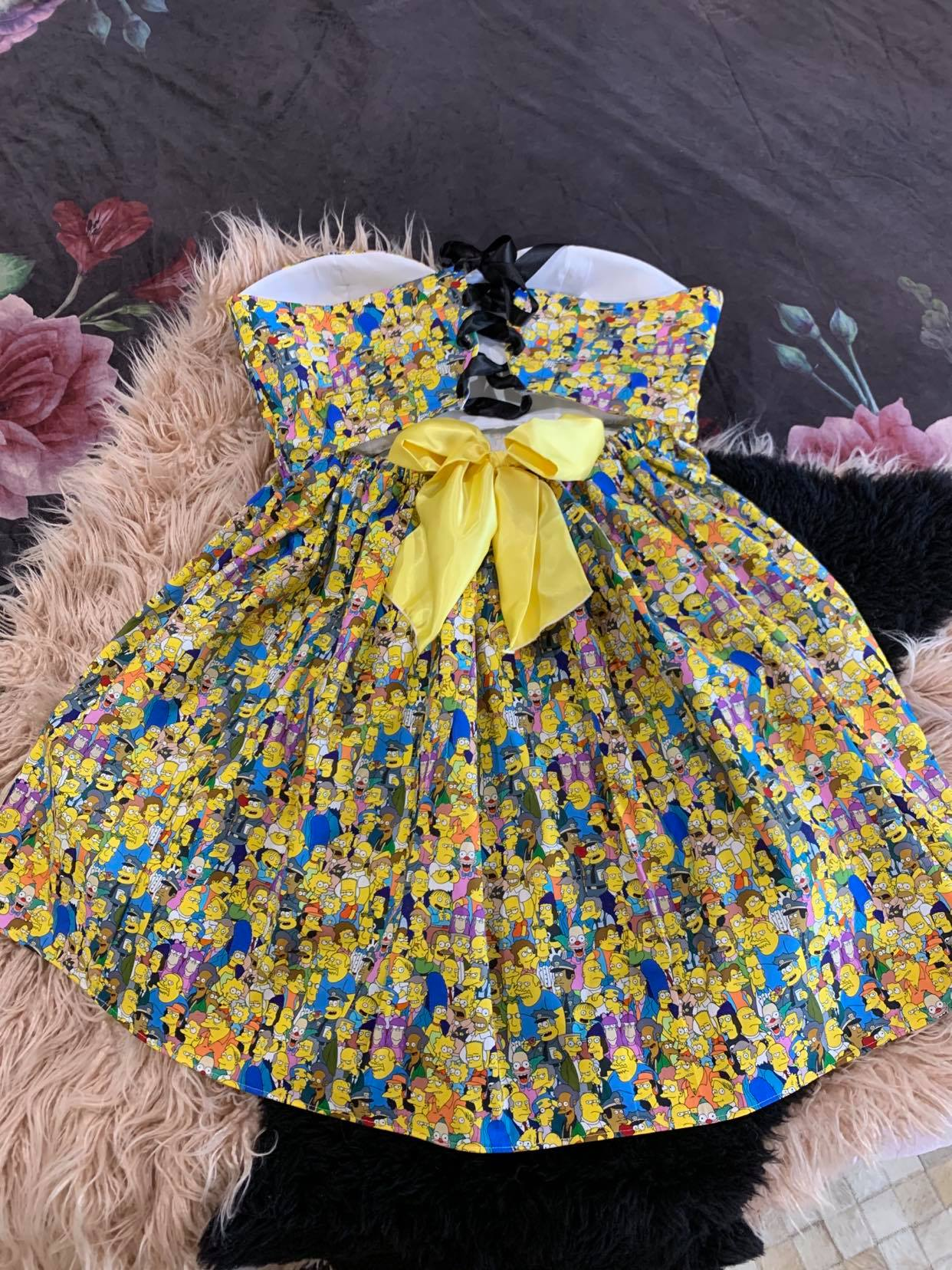 Full Cast Simpsons Sweetheart Dress