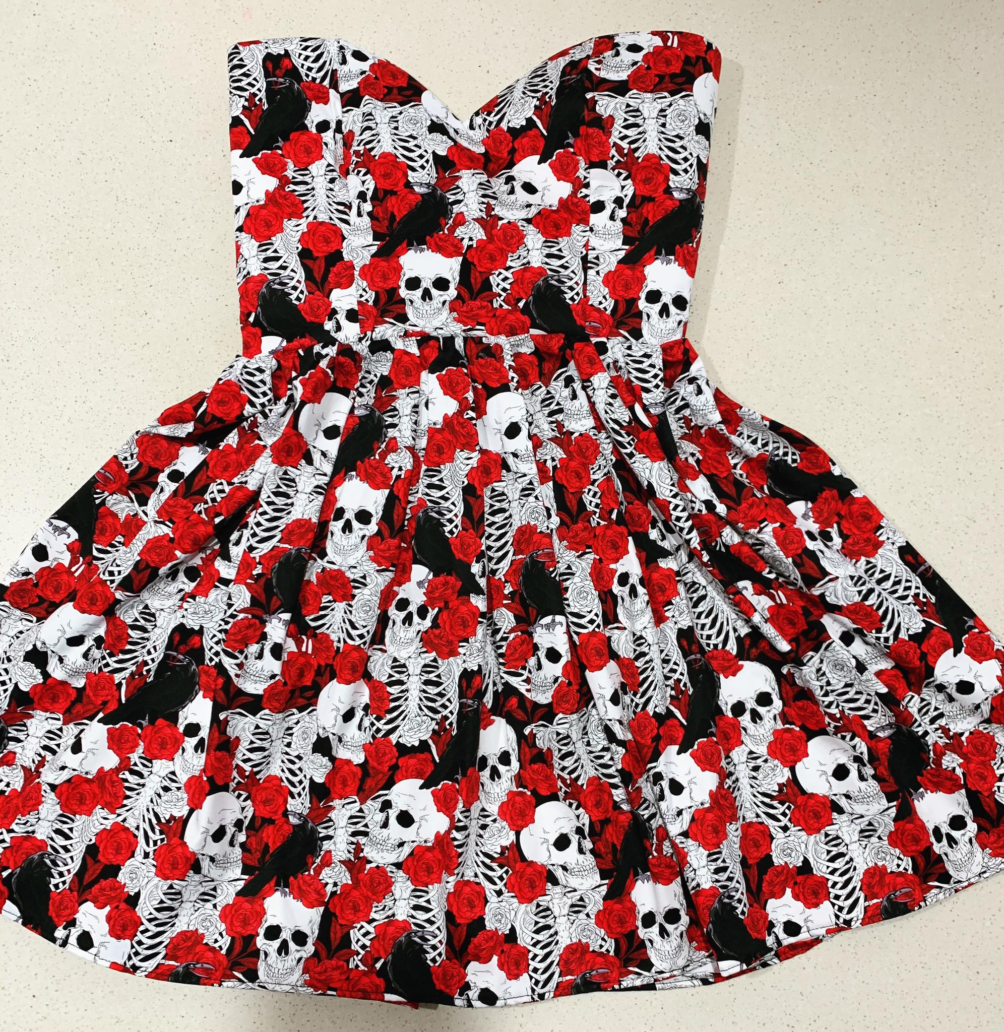 Skeleton & Raven Sweetheart Dress