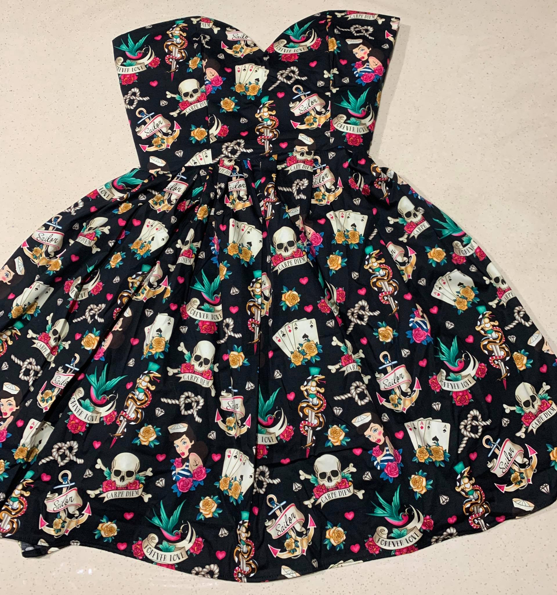 Skulls & Sailors Halter Dress