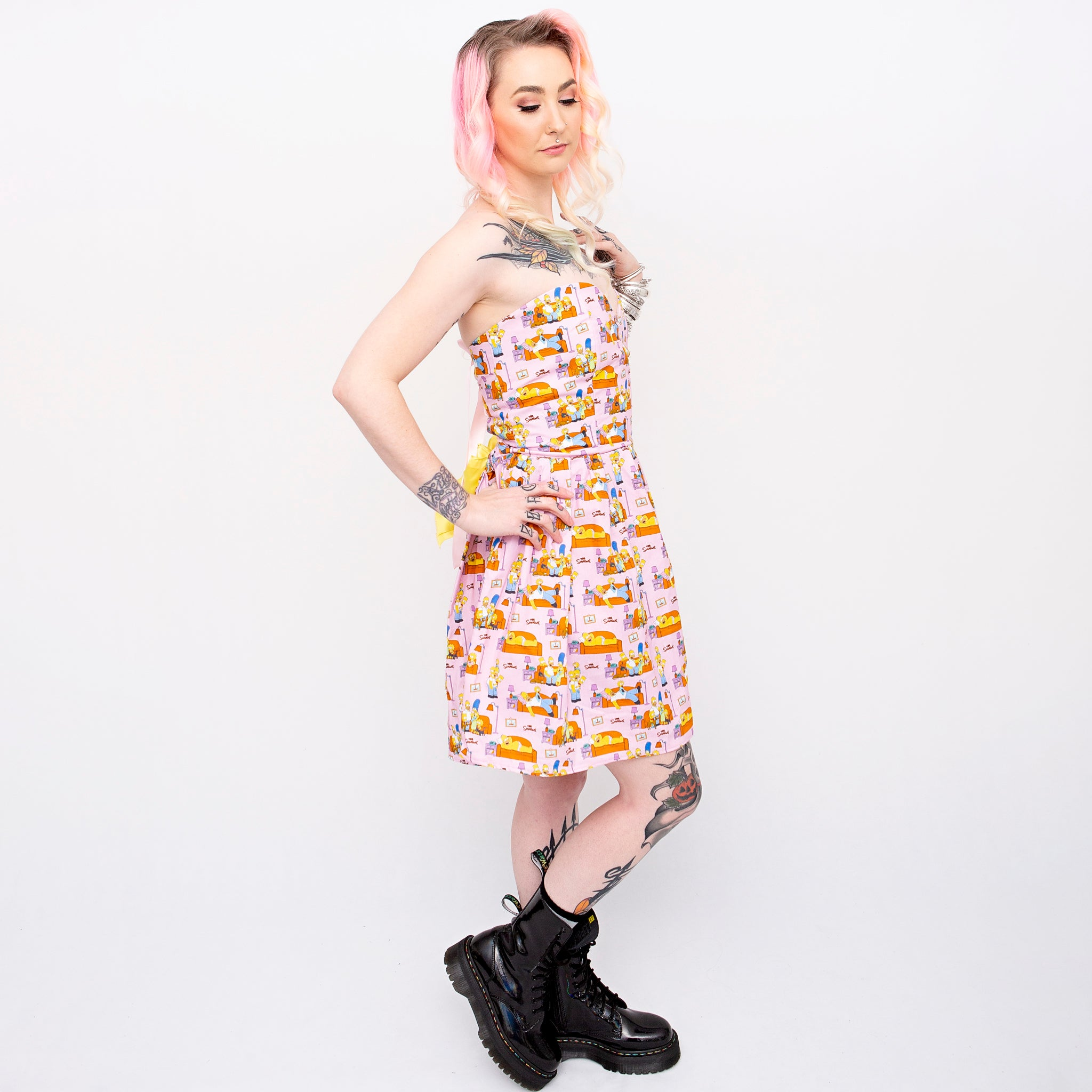 The Simpsons Family Sweetheart Dress