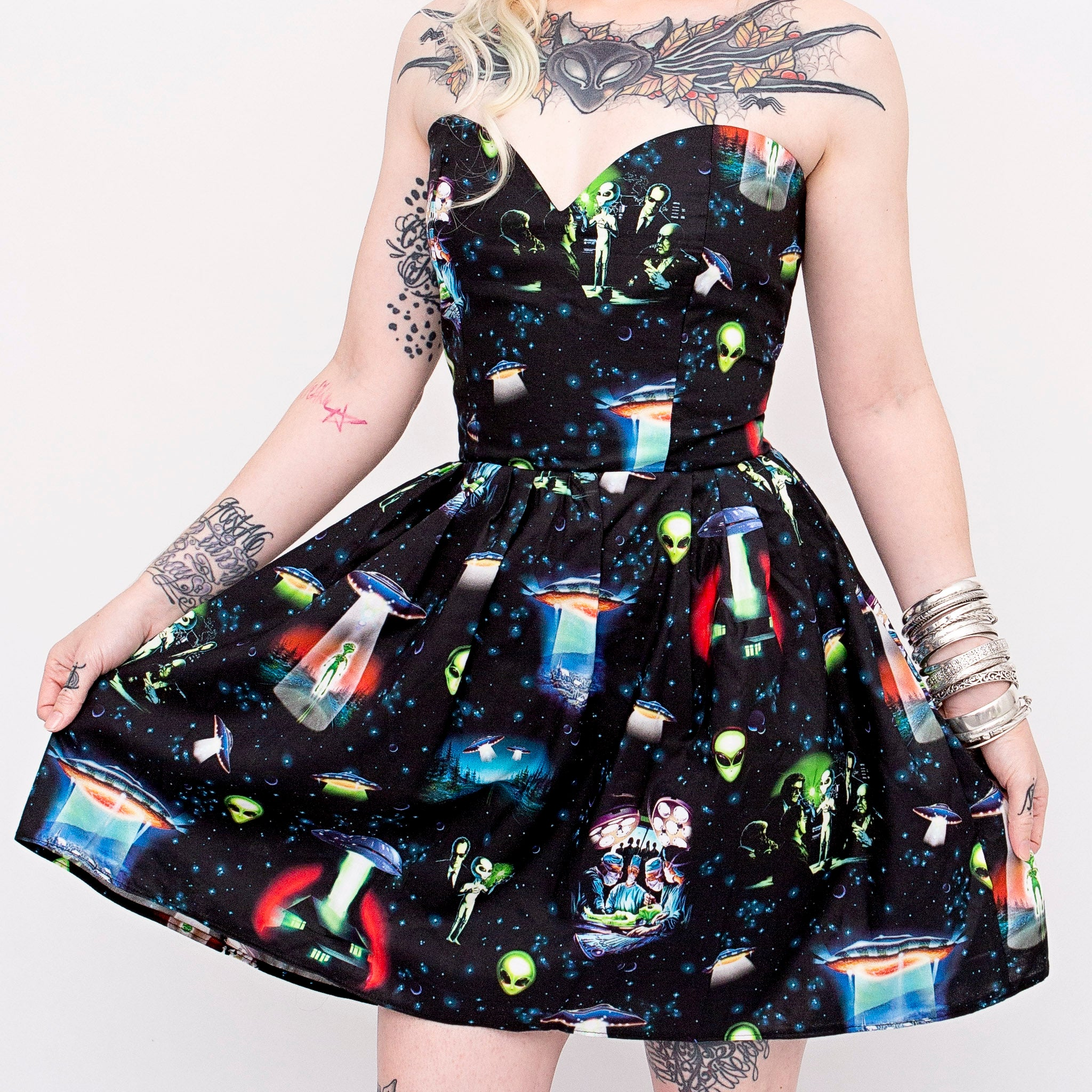 Area 51 Sweetheart Dress