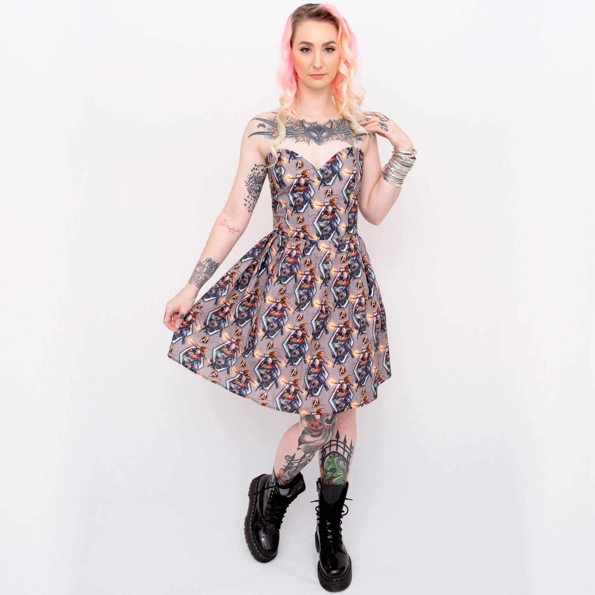 Avengers Endgame Sweetheart Dress