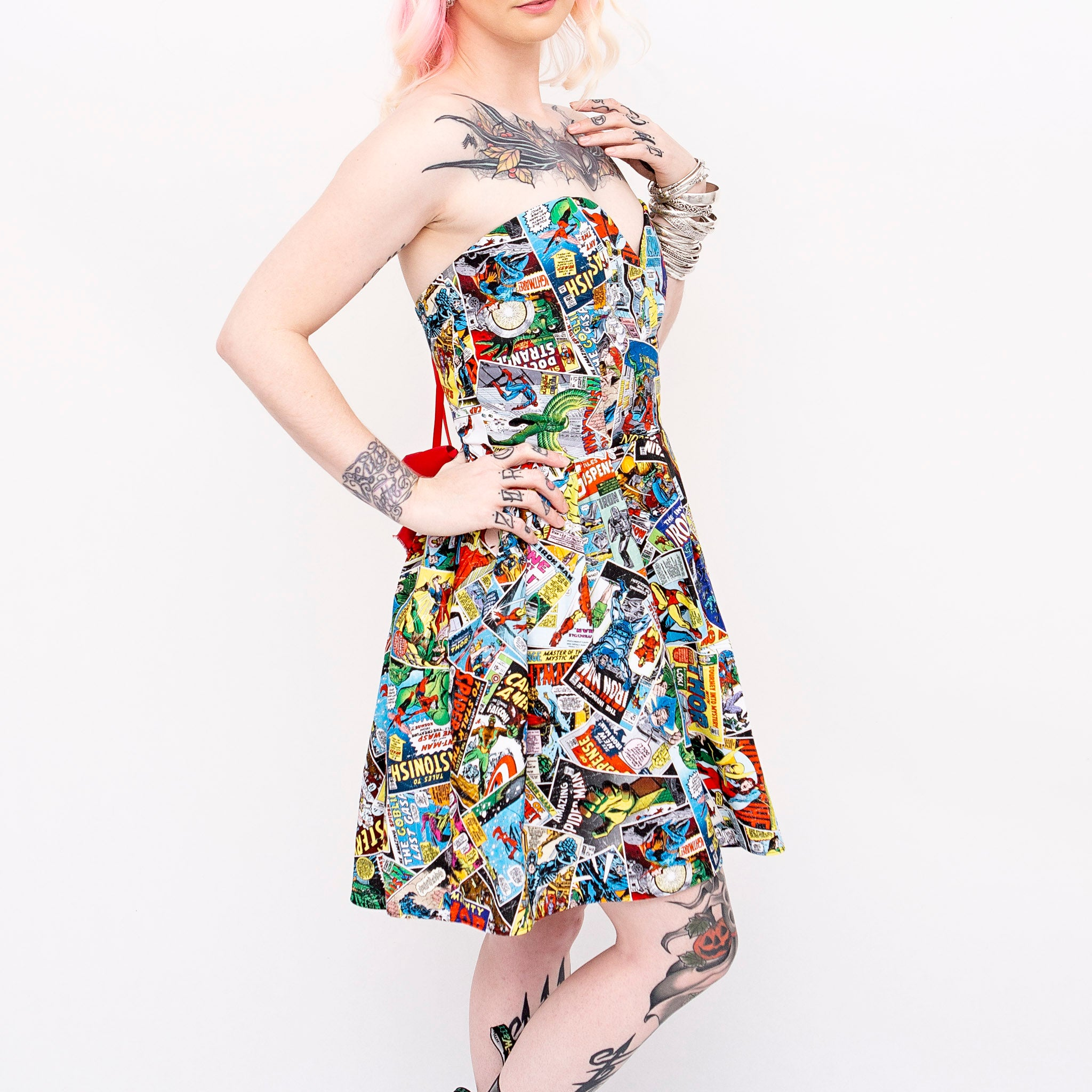 Marvel Superhero Comic Sweetheart Dress